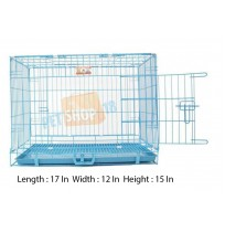 Sky Blue Metal Dog Cage XS