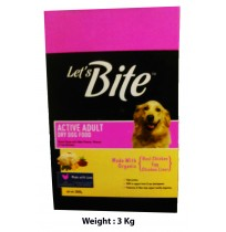 Lets Bite Active Adult Chicken Egg Flavour 3 Kg