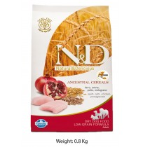 Farmina ND Mini Adult Dog Food Chicken And Pomegranate Low Grain 800 Gm