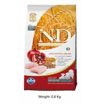 Farmina ND Medium Puppy Food Chicken And Pomegranate Low Grain 800 Gm