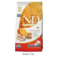 ND Codfish And Orange Adult Dog Food 12 Kg