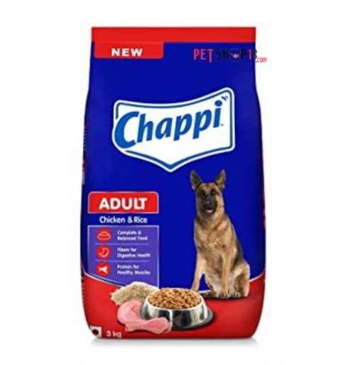 Chappi Adult Dog Food Chicken And Rice 3 Kg Petshop18.com