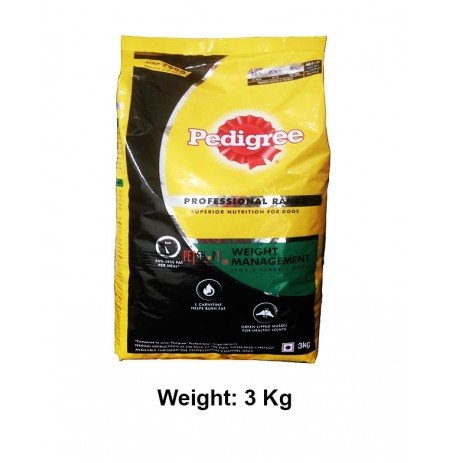 Pedigree Dog Food Professional Range Weight Management 3 Kg