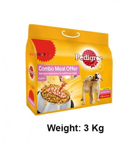 Pedigree Chicken And Milk Combo Meal Pack Puppy 3 Kg