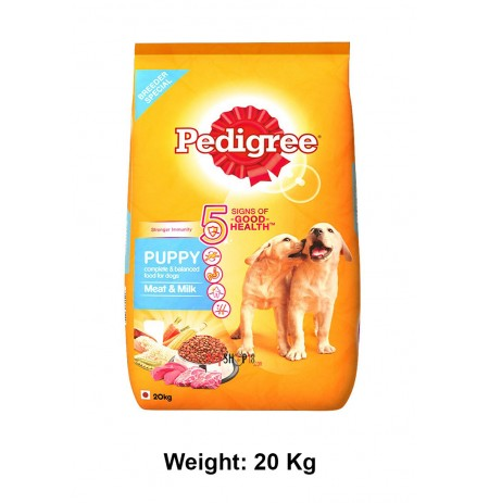Pedigree Dog Food Meat And Milk Flavoured Puppy 20 Kg