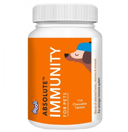 Drools Dog Supplement Absolute Immunity 110 Chewable Tablets