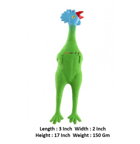 Scoobee Dog Toys Latex Green Chicken Large