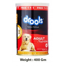 Drools Dog Treats Adult Nutrition Chicken In Gravy Can 400 Gm