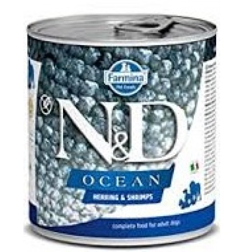 Farmina ND Dog Treat Ocean Herring and Shrimps Can 285 Gm