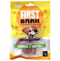 First Bark Dog Treat Soft Chicken And Cod Roll 70 Gm