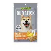 Jerhigh Dog Treat Duo Stick Milky With Banana 50 Gm
