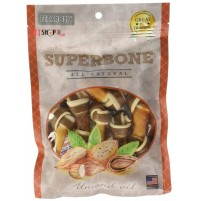 Super Bone Dog Treat Almond Oil Knotted 7 Pieces