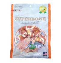 Super Bone Dog Treat Salmon Oil Knotted 7 Pieces