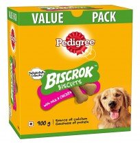 Pedigree Biscrok Biscuits Milk & Chicken 900 Gm