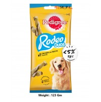 Pedigree Dog Treats Rodeo Duos Chicken And Bacon 123 Gm
