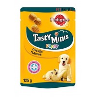 Pedigree Puppy Treats Tasty Minis Chicken Chunks 125 Gm