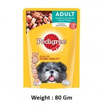 Pedigree Chicken And Liver Chunks In Gravy Pouch 80Gm