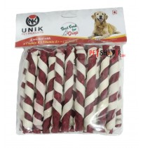 Unik Dog Treat Spiral Munches Sticks Mutton 450 Gm