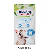 Dentalight Dog Treats Dental Bone Small 12 In 1 90 Gm