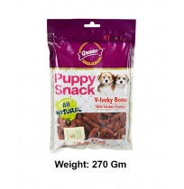 Gnawlers Dog Treats Puppy Snack V Lucky Bone With Chicken Flavor 270 gm
