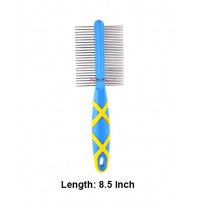Hellopet Double Sided Handled Dog Comb