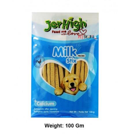 Jerhigh Dog Treats Milk Stix 100 Gm