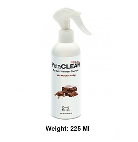 Pet Clean Hot Chocolate Fudge Waterless Shampoo 225 Ml
