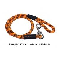 Rope Leash Black And Orange L 1.25 In