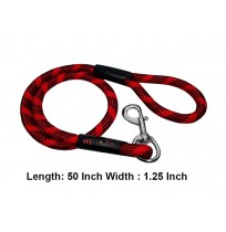 Rope Leash Red And Black L 1.25 In