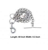 Silver Dog Puppy Chain Leash 60 Inch