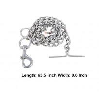 Silver Dog Puppy Chain Leash Xl