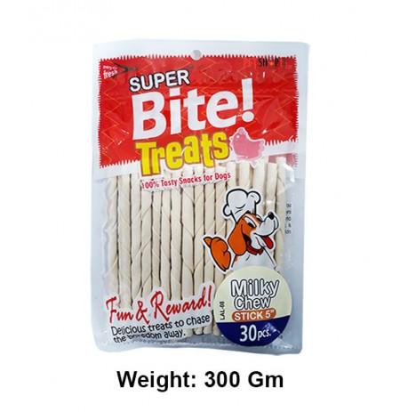 Super Bite Dog Treats Milky Chew Stick 5 Inch 30 In 1