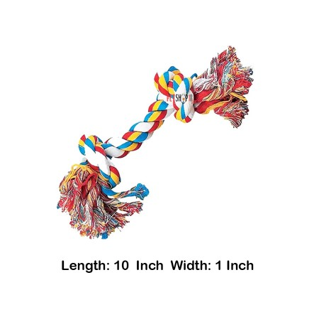 Super Dog Cotton Two Knot Rope Toy Large