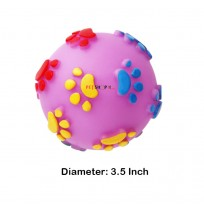 Super Dog Paw Printed Rubber Ball Large