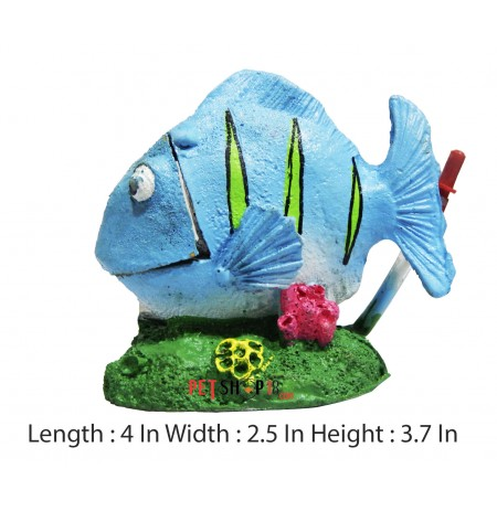 Blue Fish Aquarium Decor Small