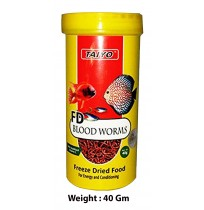 Taiyo Fish Food Fd Blood Worms 40 Gm