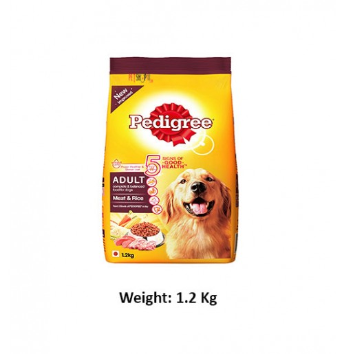 Pedigree Adult Dog Food Meat And Rice 1.2 Kg