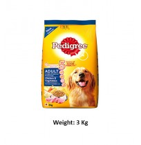 Pedigree Adult Dog Food Chicken And Vegetables 3 Kg