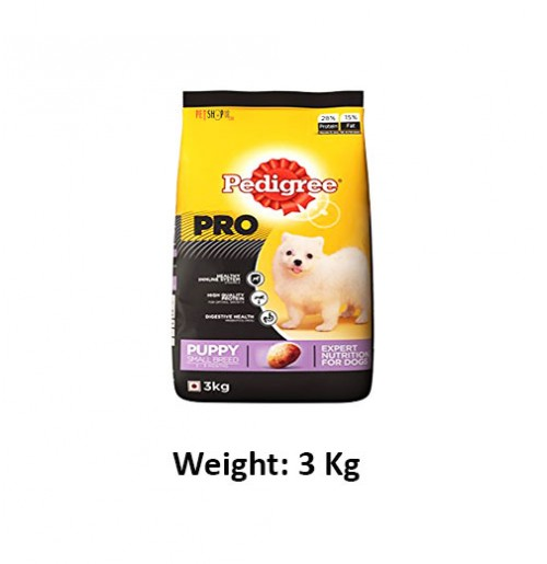 Pedigree Pro Puppy Food Small Breed 3 Kg Petshop18.com