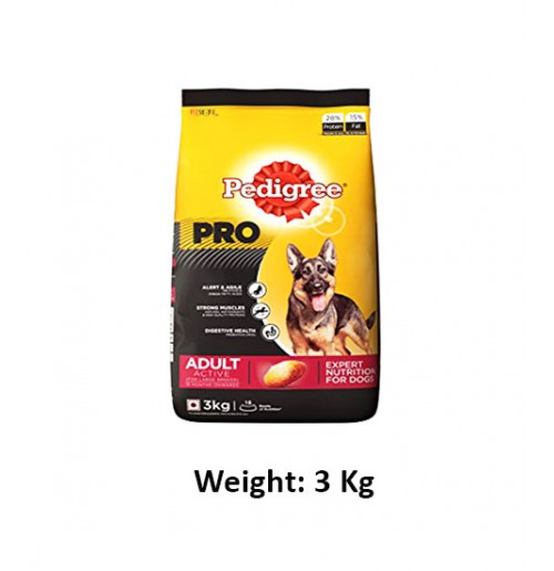 Pedigree Adult Active Dog 3kg Dog Buy At Petshop18 Com