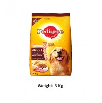 Pedigree Adult Dog Food Meat And Rice 3 Kg