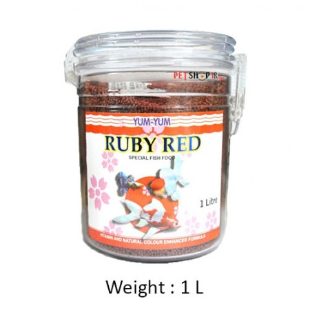 Yummyyyum Fish Food Ruby Red Special 1 L