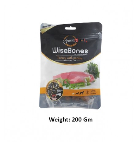 Gnawlers Small Breed Wise Bone Turkey With Parsley 200 Gm