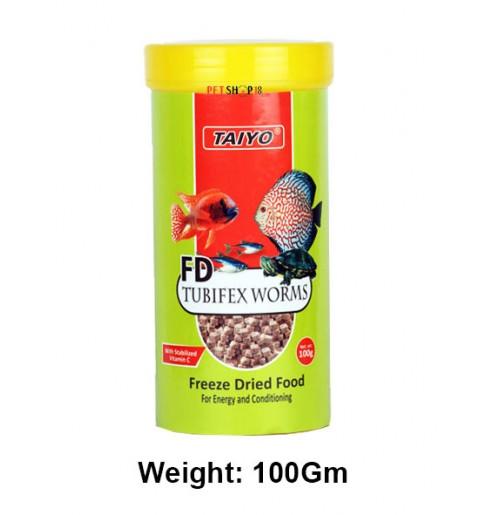Taiyo Fish Food FD Tubifex Worms 100 Gm
