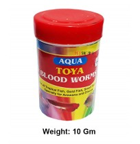 Aqua Toya Fish Food Blood Worms 10 Gm