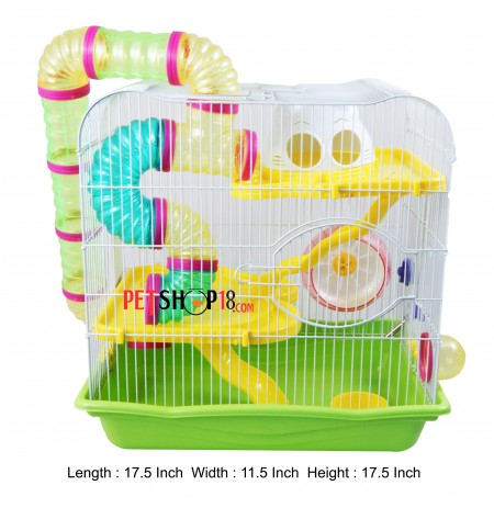 Interesting Hamster Green Cage Large