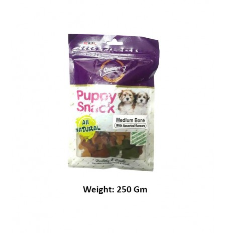 Gnawlers Puppy Snack Medium Bone 250 Gm