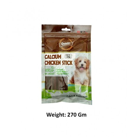Gnawlers Calcium Chicken Sticks 270 Gm