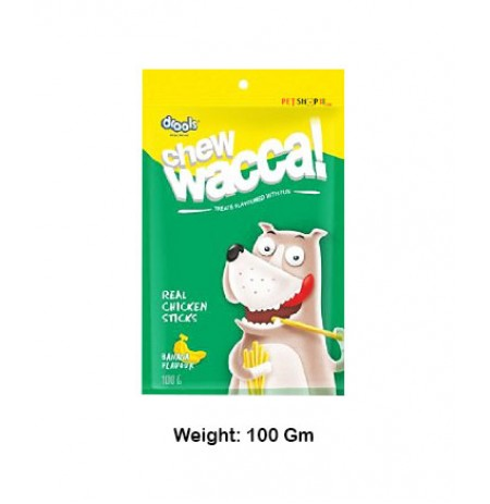 Drools Dog Treats Chew Wacca Real Chicken Sticks Banana Flavor 100 Gm