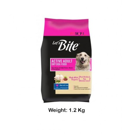Lets Bite Active Adult Chicken Egg Flavor 1.2 Kg